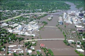 2008 Flooding in Cedar Rapids, Iowa, USA. Photo Credit: Iowa Civil Air Patrol