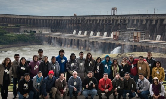 Course participants and Instructors visit Itaipu Dam. Source: International Water Security Network