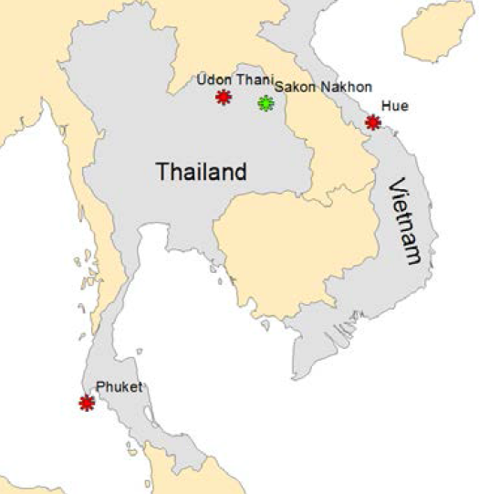 Map of SE Asia projects