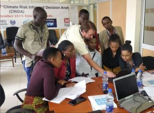 ICIWaRM's John Kucharski working on CRIDA exercise with participants. Photo credit: UNESCO